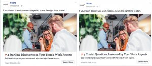 Scoro Facebook Ad Example