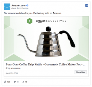 Amazon Facebook Ad Example
