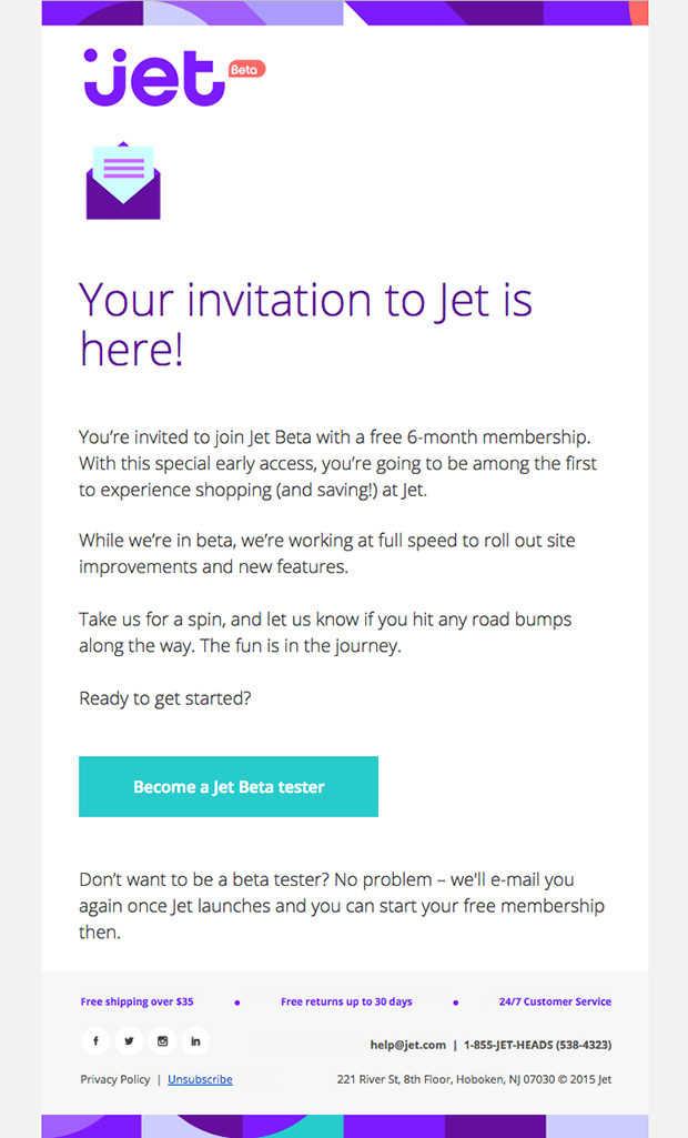 Jet email open rate